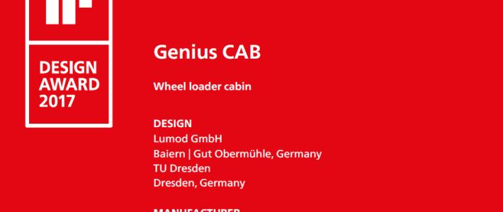 Genius CAB gewinnt iF Design Award 2017